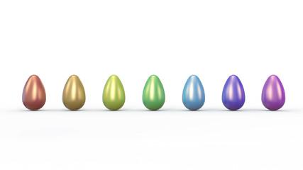 Easter eggs in rainbow row