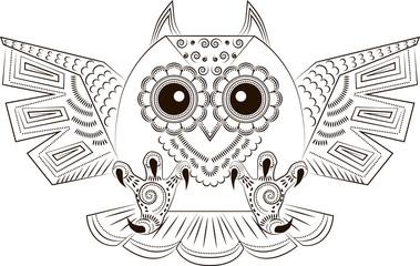 Funny angry owl