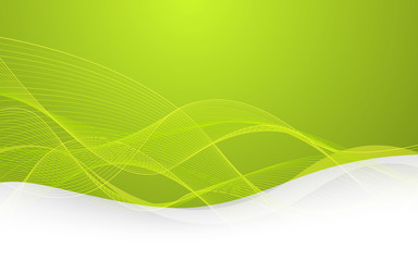 Abstract green background with lines. Vector