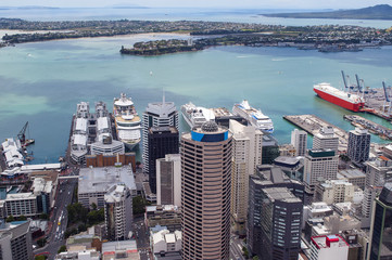 Aerial view of Auckland, New Zealand's city