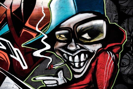 Graffiti with a simper boy