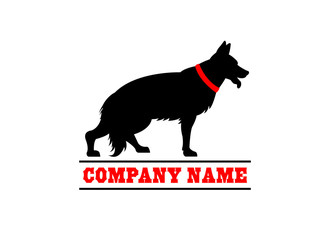 German shepherd dog training logo