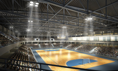 Wall Mural - Handballhalle