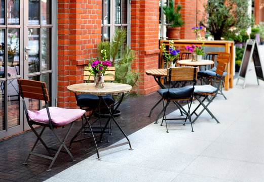 tables and chairs - the restaurant