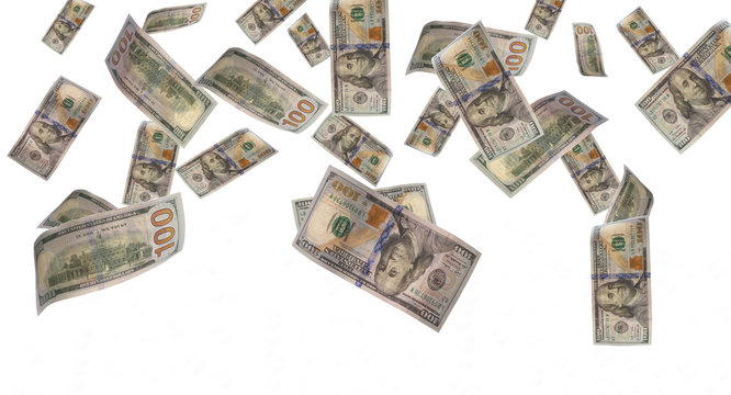 money rain - Stock Image