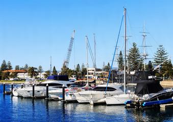 Boats and yachts at the bay