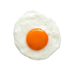Photo sur Toile Ouf Top view of fried egg