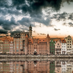 views of the waterfront in Gdansk - fototapety na wymiar