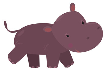 Little funny hippo