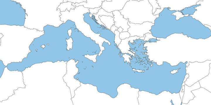Mittelmeer in weiß