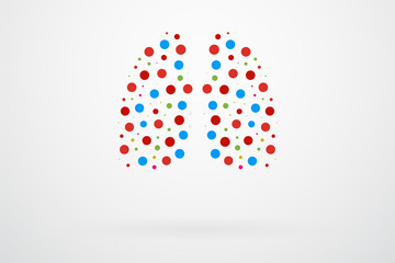Human Lungs Abstract Vector