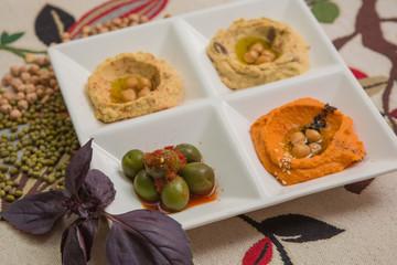Delicious and healthy hummus