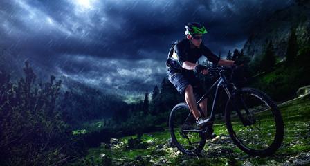 Mountainbiking uphill