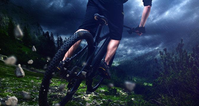 Mountainbike jump