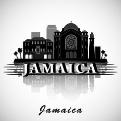 Modern Jamaica Skyline Design. Vector silhouette