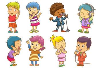 set of child activities routines.