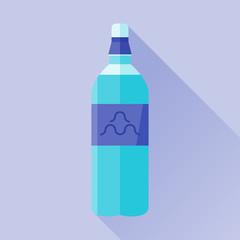 Bottle of water flat icon