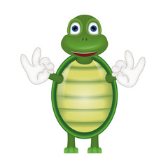 Funny turtle comic cartoon illustration