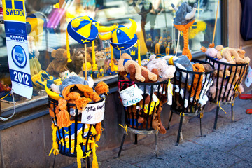 Swedish souvenirs in Stockholm, Sweden