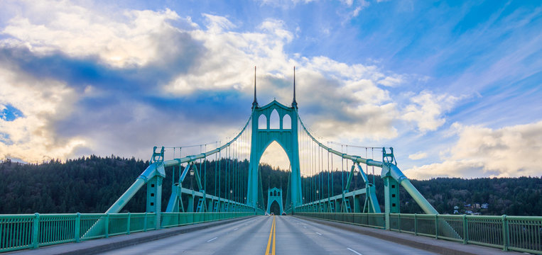 St. John's Bridge in Portland Oregon, USA