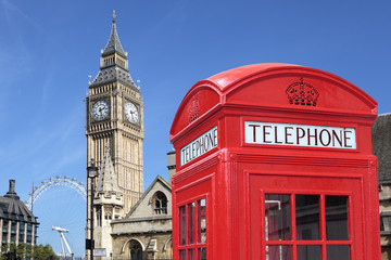 London telephone box big ben