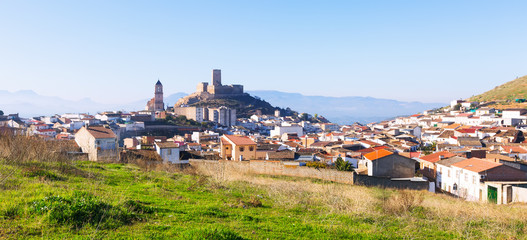 General view of  old andalusian town.  Alcaudete
