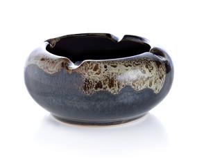 Ceramic ashtray isolated on white