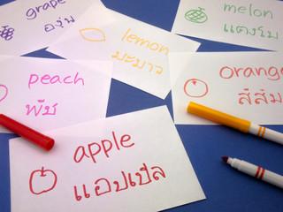 Making Language Flash Cards; Thai