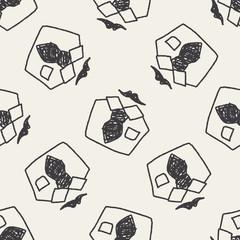 shirt doodle seamless pattern background