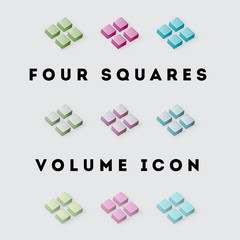 Icon Volume Pack Four Squares