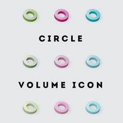 Icon Volume Pack Circle