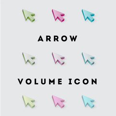 Icon Volume Pack Arrow