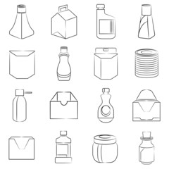 packaging design icons