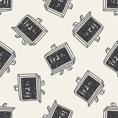 blackboard doodle drawing seamless pattern background