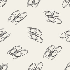 ballet shoes doodle seamless pattern background