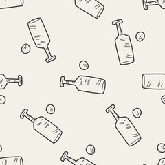 cricket doodle seamless pattern background