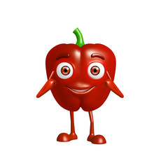 capsicum character with pointing pose
