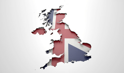 Recessed Country Map Britain