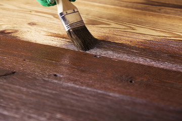 Painting and wood preservation
