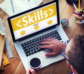 Skills Ability Aptitude Personal Efficacy Concept