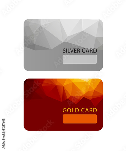 Gold and silver VIP premium member cards