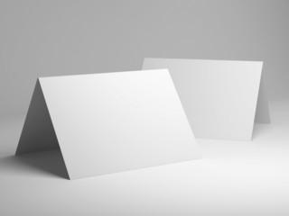 Blank template of folded postcard
