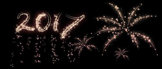 Kerstkaart 2017 met vuurwerk