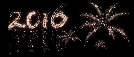 Kerstkaart 2016 met vuurwerk