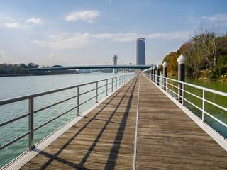 walkway along the river Guadalquivir
