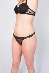 Sensual lady in black