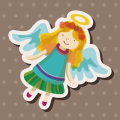 angel cartoon design elements vector