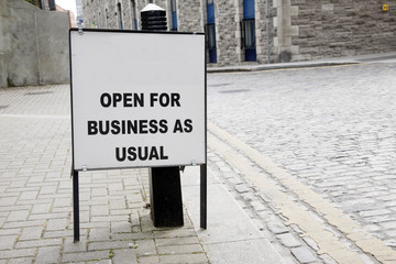 Blank Open for Business Sign