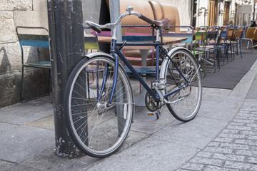 Bike in Coppinger Row Street in Dublin