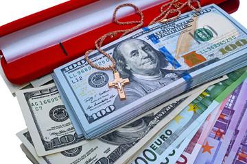 Golden cross  and money